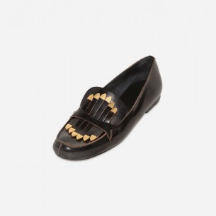 CHLOE' - 10MM FRINGED CALFSKIN LOAFERS