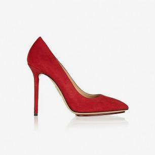 CHARLOTTE OLYMPIA Monroe 绒面革高跟鞋
