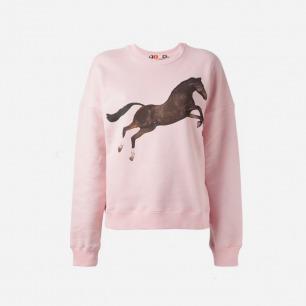 MSGM X TOILET PAPER horse print sweatshirt