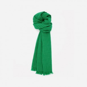 COS CHECK PRINT WOOL SCARF