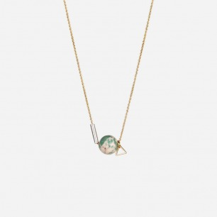 turquoise supermoon necklace