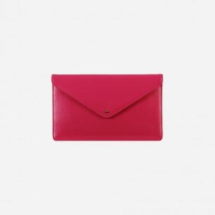 Macarons 玫红色信封手拿包