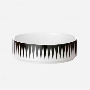 丹麦黑白几何花纹碗 | 浓郁北欧风格 舒适温暖