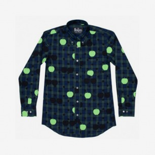 Beatles CDG Shirt (Navy Tartan Check)