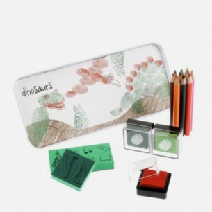 Dinosaurs Finger Printing Art Set