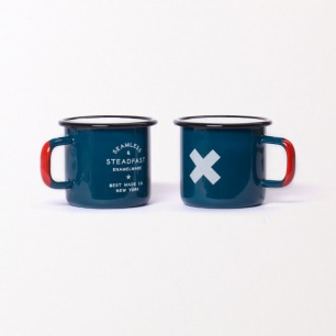 Seamless & Steadfast Enamel Steel Cups (Set of Two)