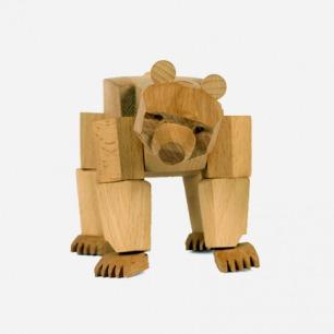 原木玩物 鳄鱼,大熊 山毛榉木材质实木玩具 beech wood