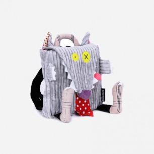 法国Deglingos正品 小狼老板 布艺玩具 男孩女孩儿童背包