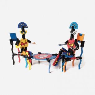 瑞士Naef 玩具 尤瑞斯 艺术主题 拼插拼图 益智创意早教