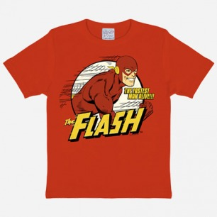 AGE 2 TO 8 RED FLASH T-SHIRT