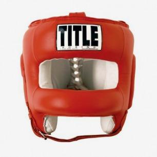 美国TITLE Boxing Face Headgear面部保护训练护头拳击头盔