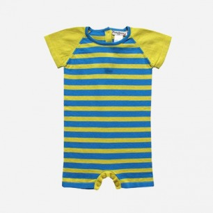 Baby&Taylor 黄绿条纹连身裤