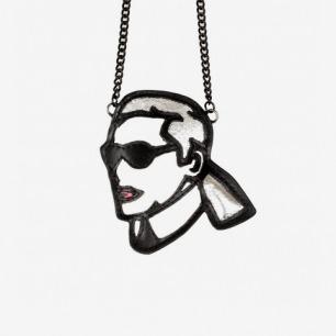 BlackHead黑头时尚教主Karl Lagerfeld 真皮人物项链