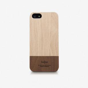 日本Kajsa简约淡雅拼色设计iphone5 5S手机壳