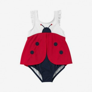 crazy8童装 女童瓢虫造型防晒泳衣
