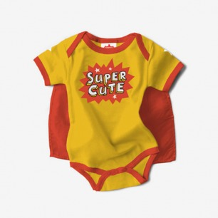 baby Bodysuit 超可爱的斗篷超级英雄 女宝宝款
