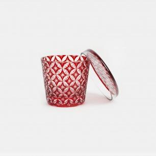 雕花玻璃带盖酒盅 七宝 | 日本百年手工玻璃品牌