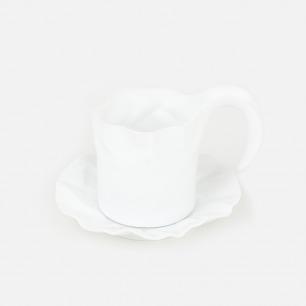 新波纹马克杯 茶杯&茶托套装