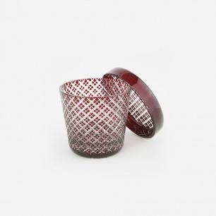 雕花玻璃带盖酒盅-二重 | 日本百年手工玻璃品牌