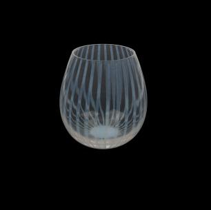 透明酒盅 十草