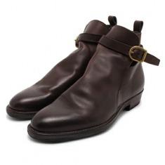 alfredoBANNISTER牛皮搭扣短筒靴子