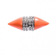 Coral & crystal magnetic single earring | Givenchy |