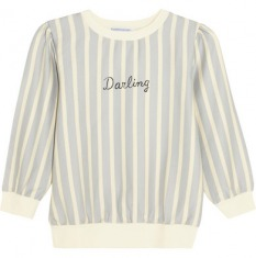 "Finds | + Wanderclad ""Darling"" 条纹棉质混纺运动衫 
