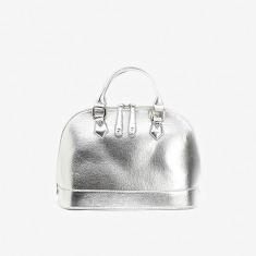 Ah-mazing 霹雳银色涂层单肩手提包