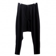 Ze by SANKUANZ黑色羊毛哈伦裤
