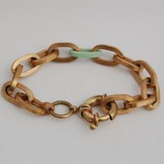 美国设计师手工制作 纯黄铜手链