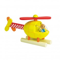 木制磁性启蒙益智拼装玩具直升机