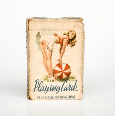 Vintage Pin-up Playing Cards Deck / 50's Poker Cards Deck