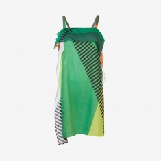 ISSEY MIYAKE Striped colorblock dress