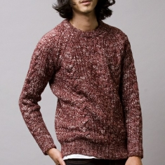 葡萄红毛衣