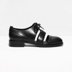 & Other Stories | Leather Cutout Shoes | Black