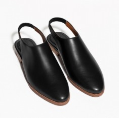 & Other Stories | Slingback Leather Flats | Black
