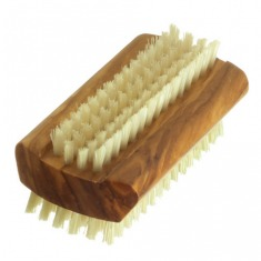 Hydréa London Olive Wood Dual-Sided Nail Brush