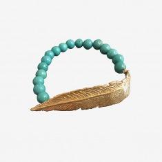 LeiVanKash Feather Beaded Bracelet 羽毛串珠手链