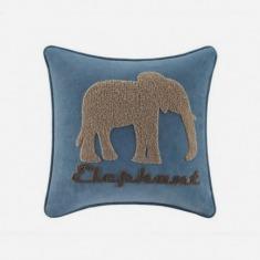 大象绣花儿童靠垫套