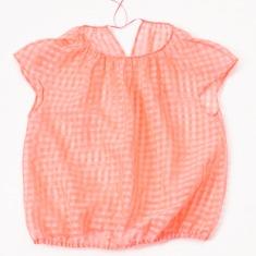 twinkle|風船 粉橘系带上衣+小背心组合