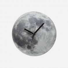 美国KIKKERLAND Light Up Moon Clock 黑暗发光月亮钟