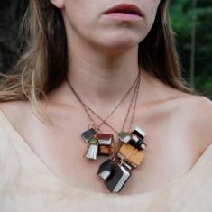 Autumnal Library Book Necklace