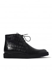 SAINT LAURENT MENS FAKE CROCODILE DESERT BOOTS