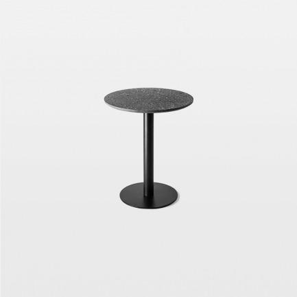 颜色/黑色水磨石板+黑色金属腿