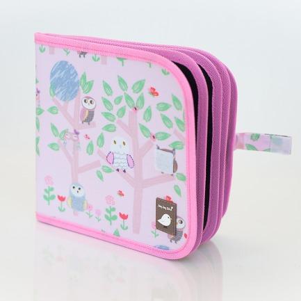 颜色/Owls花纹-粉红猫头鹰(附4粉笔)+12色粉笔套装