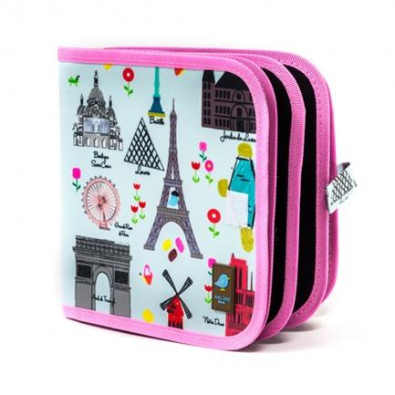 颜色/Paris花纹- 巴黎铁塔(附4粉笔)+12色粉笔套装