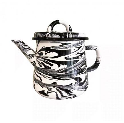 颜色/黑白大理石大茶壶