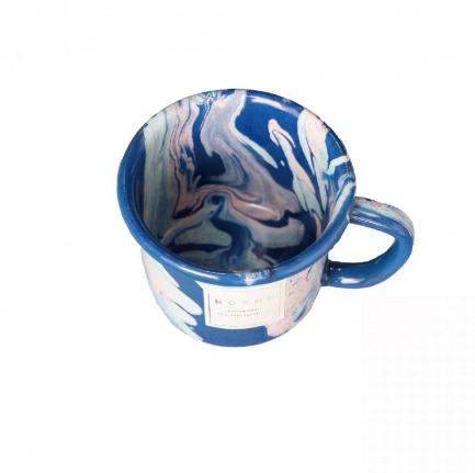 颜色/蓝色大理石大马克杯