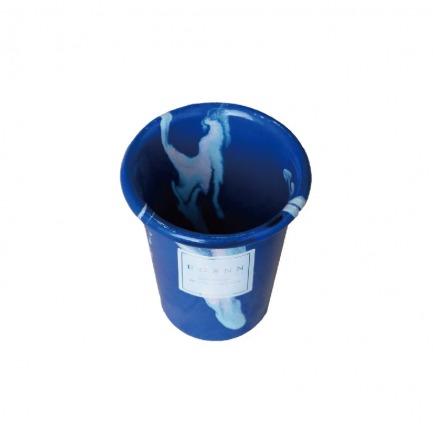 颜色/蓝色大理石滚筒杯
