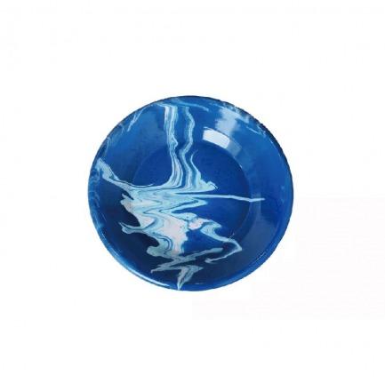 颜色/蓝色大理石圆盘